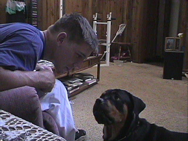 Derek and Roxy in a Stand Off (Aug 2005)