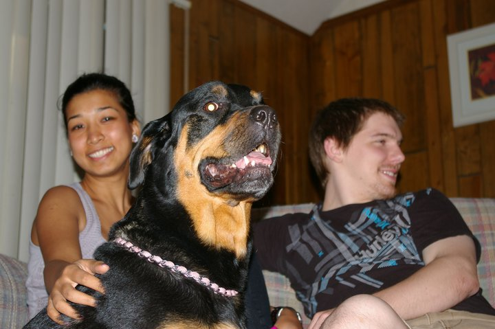 Roxy with Royna and Derek July 2011