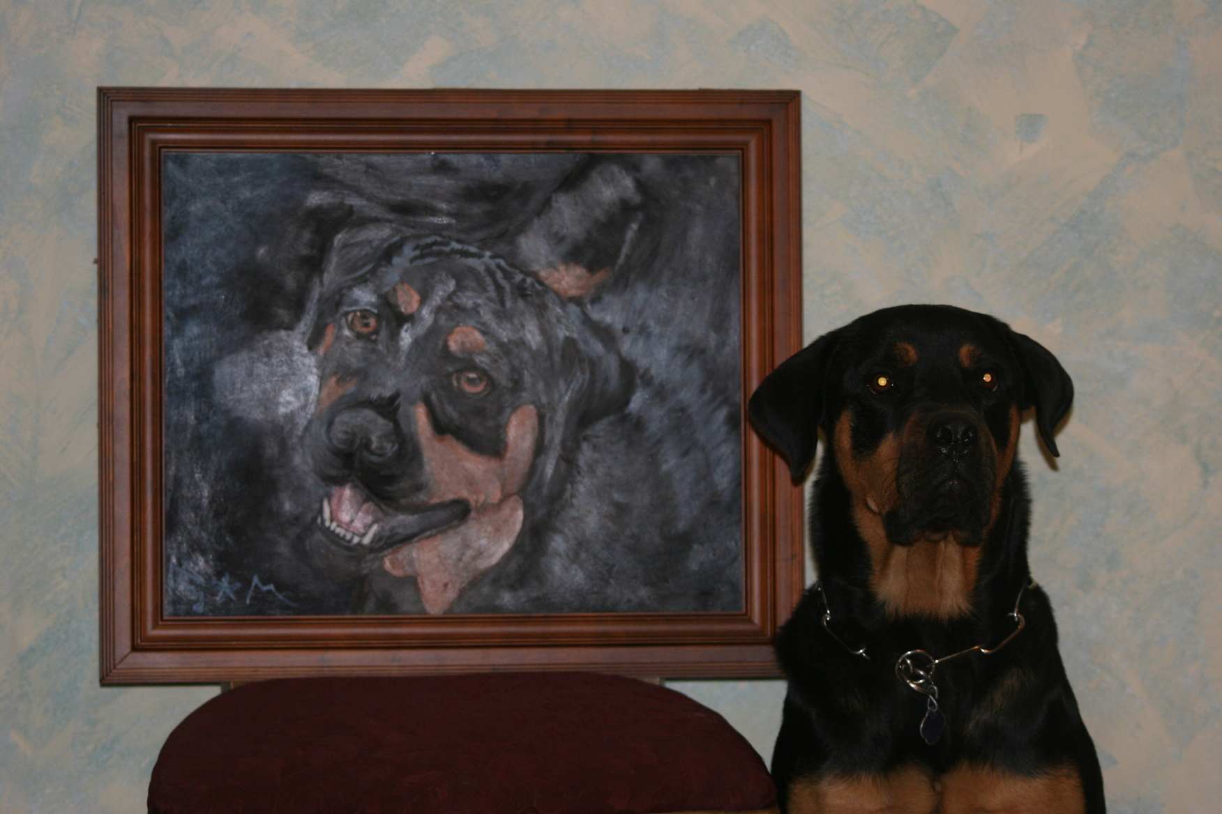 Roxy and Her Portrait (May 2007)