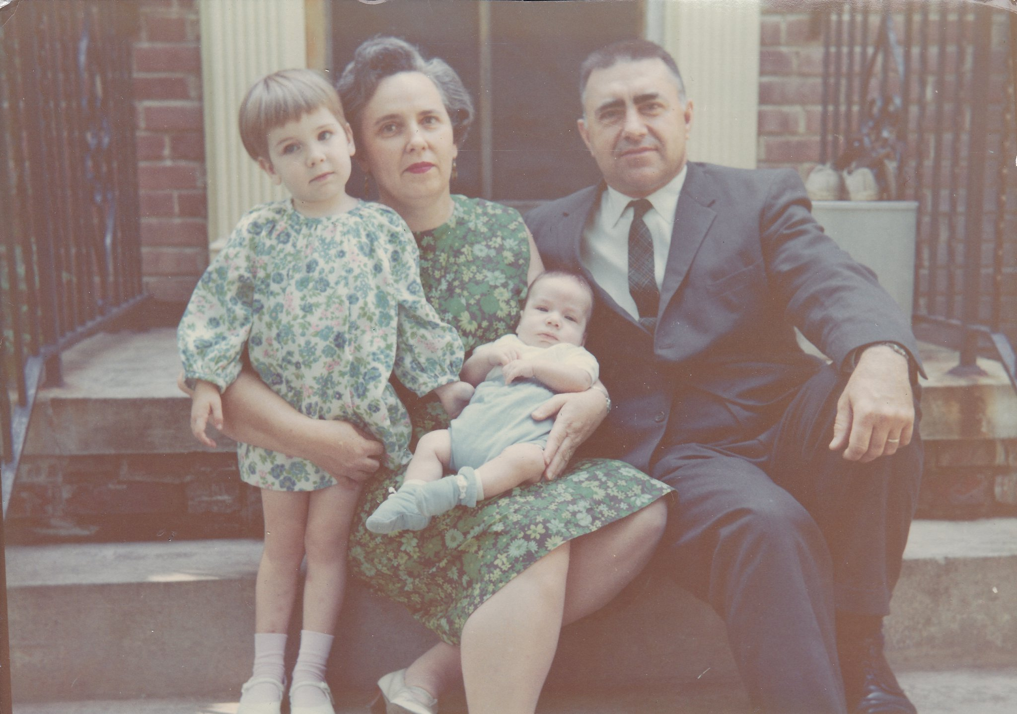 (left to right) Jon (me), Grandma Doris, Danny (my younger brother), Grandpa Ralph (Arlington, Virginia - June 1968)