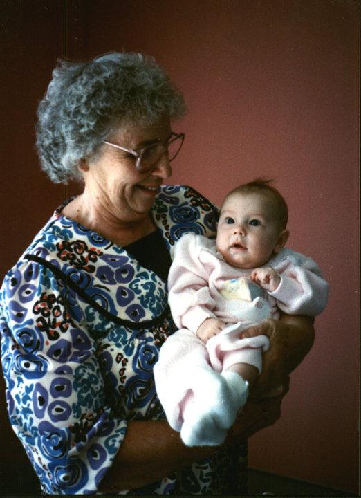 Grandma Holding Rachelle (1990)