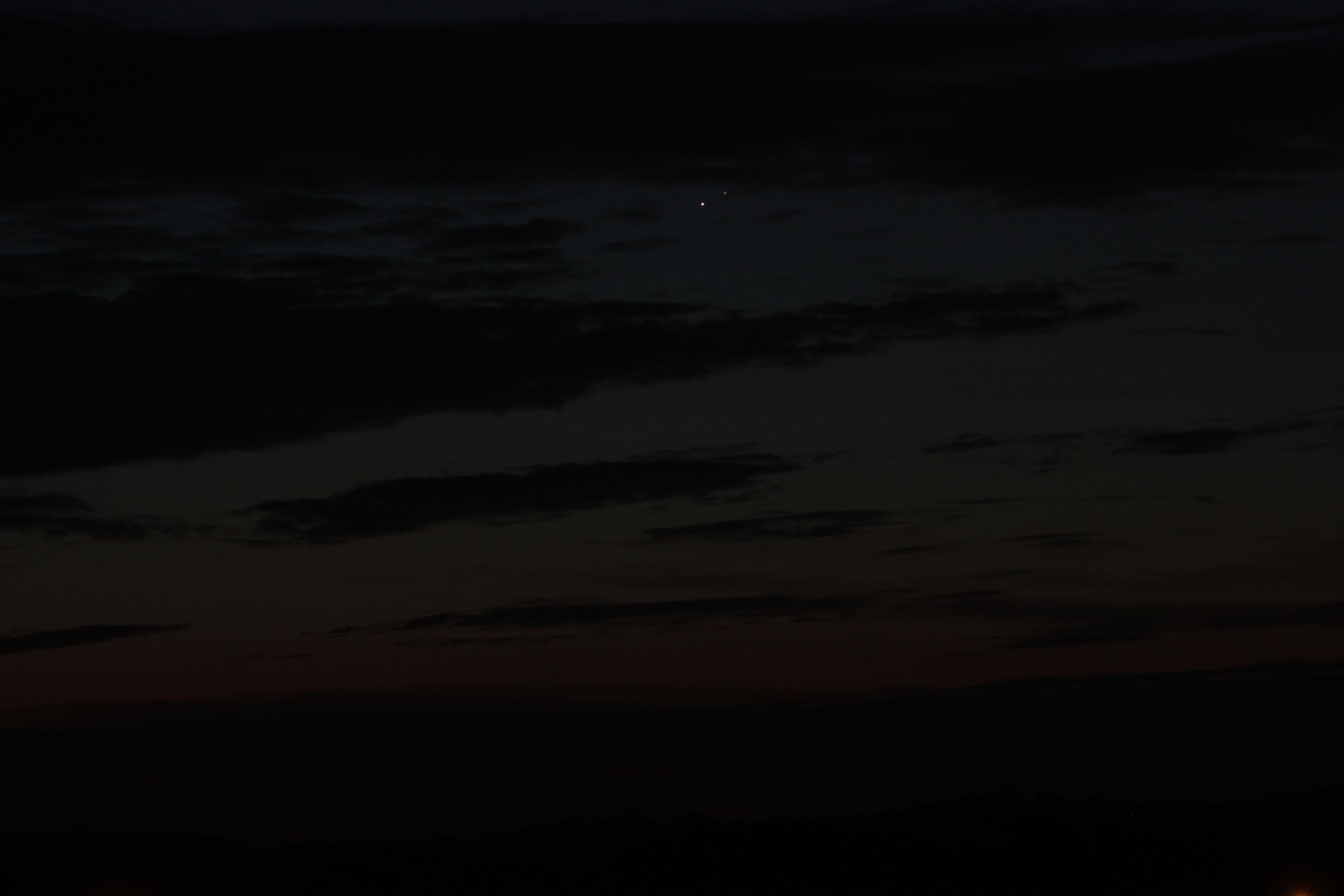 Venus and Jupiter through the clouds (photo credit: Dan Andrea)