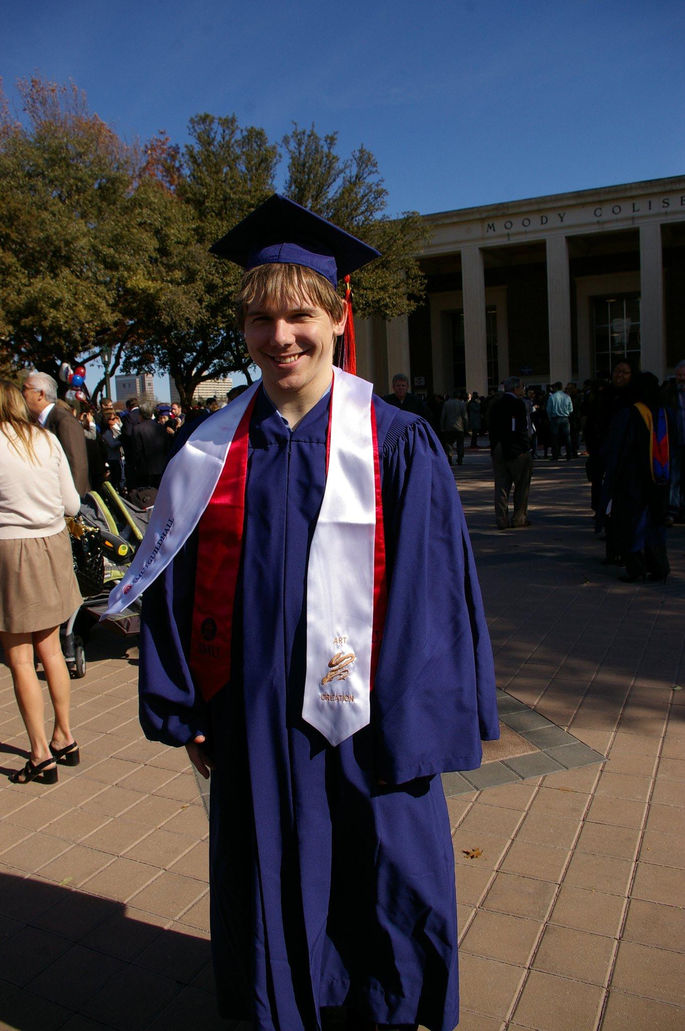 Derek graduates from SMU Guildhall (Dec 2010)