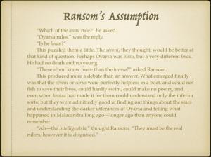 Ransom's Assumption