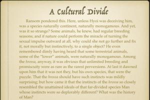 A Cultural Divide