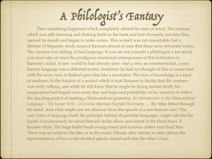 A Philologist's Fantasy