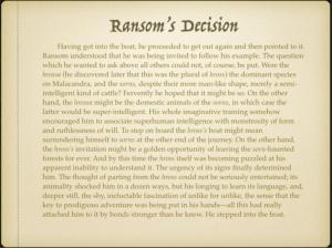Ransom's Decision