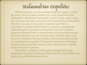 Malacandrian Geopolitics