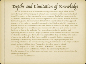 Depths and Limitation of Knowledge