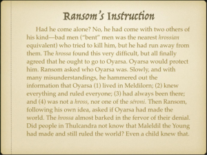 Ransom's Instruction