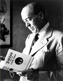 Edgar Rice Burroughs reading Tarzan