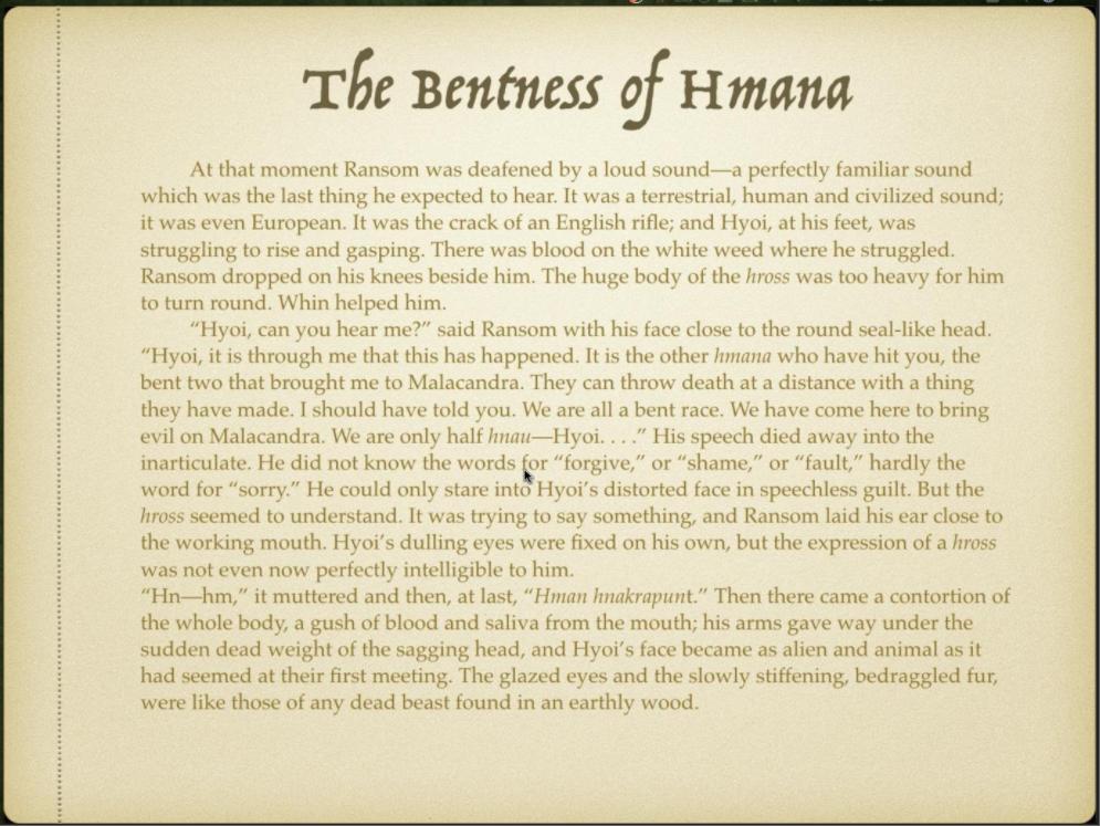 Week 4 Slide 3 Bentness of Hmana
