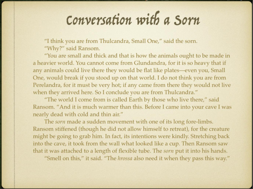 Week 4 Slide 5 Conversation with a Sorn