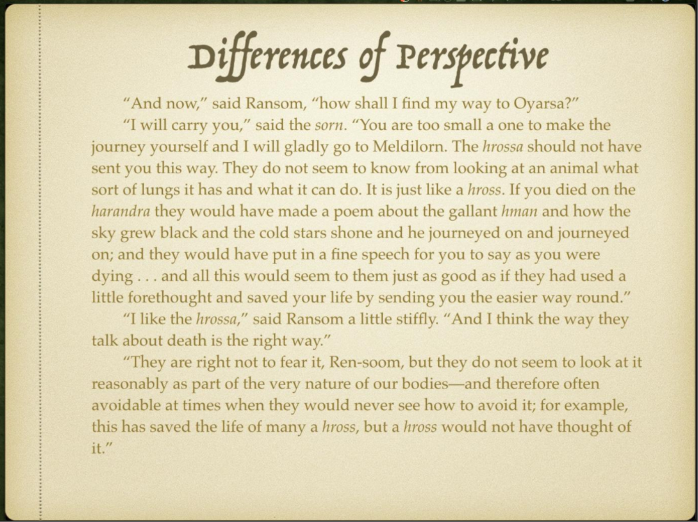 Week 4 Slide 8 Differences of Perspective